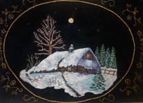 Вышитая картина Зимняя ночь